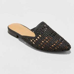 Shoes - Pointy woven flats